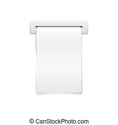 Blank vector shopping cash receipt