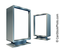 Blank vertical billboards in angles