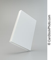stack of books blank book cover white 3d rendering
