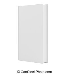 Blank vertical book cover template
