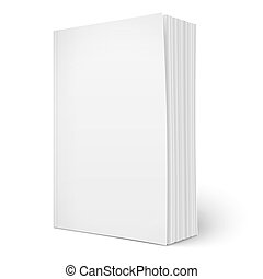 Blank vertical softcover book template with pages. - Blank...