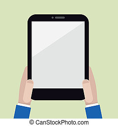blank vertical tablet