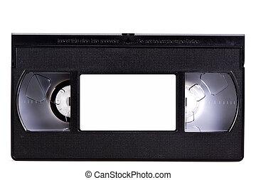 Blank video cassette tape