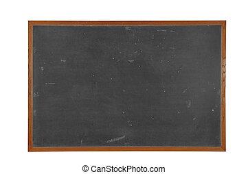 Blackboard - Blank vintage Blackboard with wood frame...