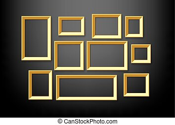 gold picture frame - blank vintage gold picture frame