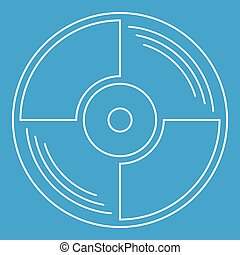 Blank vinyl record icon, outline style