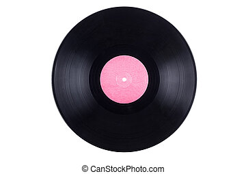 blank vinyl record isolated on white