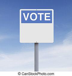 Blank Vote Sign