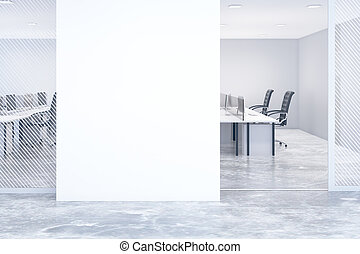 Blank wall in office