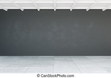 Blank wall in room