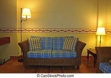 Blank wall sofa