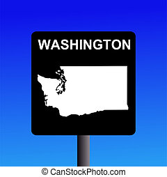Washington highway sign - Blank Washington highway sign on...