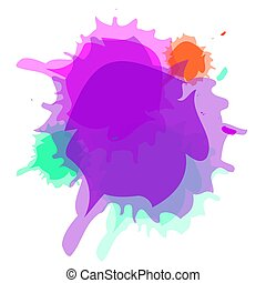 Blank watercolor splash design vector eps 10