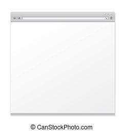 blank web page isolated on white background