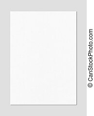Blank White A4 paper sheet mockup template