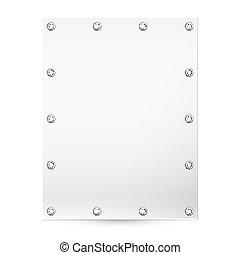 Blank white banner - Empty white banner for posting...
