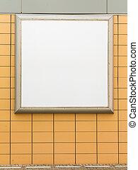 Blank white billboard advertising