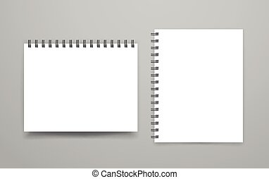 Blank white binder vector mock-up. Identity template