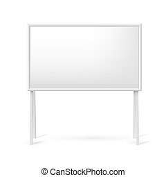 Blank white board - Blank white marker board for business...