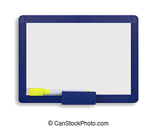 blank white board isolated on white background