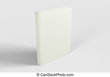 Blank white book cover, mock up