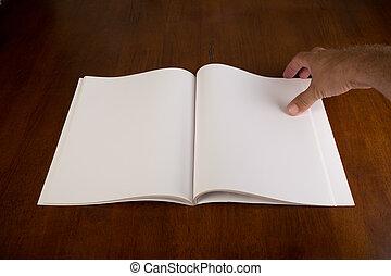Blank White Book or Magazine