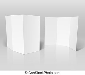 Blank white booklet vector template