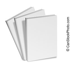 blank white books - collection of various blank white books...
