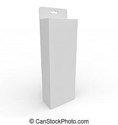 Blank white box for goods