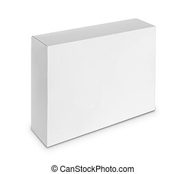 blank white box isolated over white