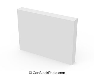 blank white box model