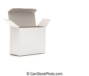 Blank white box on a white background