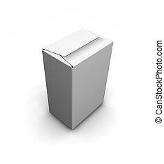 Blank white box