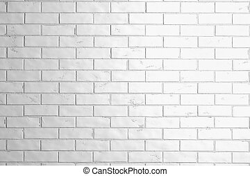 Blank white brick stone wall texture mock up, front view, 3d...