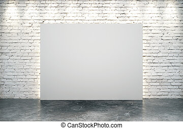 Blank white canvas in the center