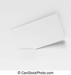 Blank white card isolated on a white background