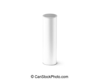 Blank White Collapsible Beer Can Koozie Mock Up Isolated