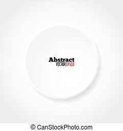 Blank white circle vector template for your designs