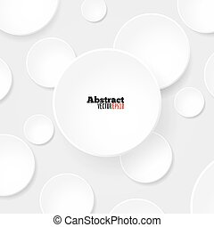 Blank white circles vector template for your designs