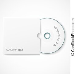 Blank white compact disk with cover