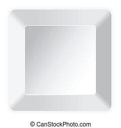 Blank white computer key on white