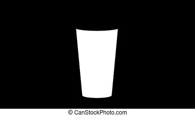 Blank white disposable large cup mock up isolated clipping...