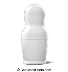 blank white doll isolated on a white background. 3d render