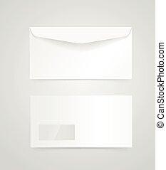Blank white envelope vector mock-up. Identity template