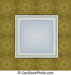 Blank White Frame on Wall