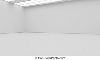 Blank white gallery background mock up isolated, constant...