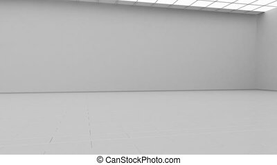 Blank white gallery background mock up isolated, cyclical...