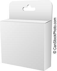 Blank white hanging retail box