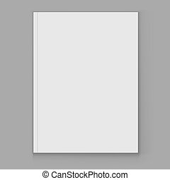 Blank white magazine cover page vector template