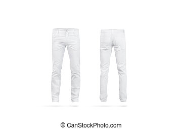 d3bb3995950c Blank white mens under pants mock up front side, isolated. empty ...